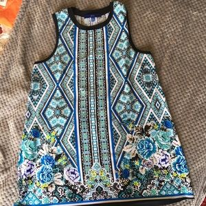 3/$25 Apt 9 Floral Print Sleeveless Tunic Blouse